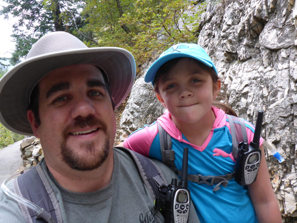 Myself and Lily while hiking Timpanogos Cave National Monument